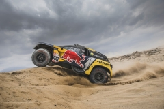 Sebastien Loeb (FRA) of PH Sport races during stage 1 of Rally Dakar 2019 from Lima to Pisco, Peru on January 7, 2019. // Flavien Duhamel/Red Bull Content Pool // AP-1Y2CZSCKD1W11 // Usage for editorial use only // Please go to www.redbullcontentpool.com for further information. //