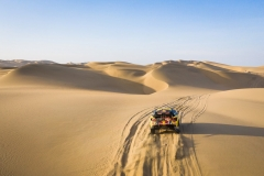 Sebastien Loeb and Daniel Elena in the Peugeot 3008 of the PH-Sport navigating in the sand during stage 3 of the Dakar Rally, between San Juan de Marcona and Arequipa, Peru, on January 9, 2019. // Antonin Vincent / DPPI / Red Bull Content Pool // AP-1Y2RM4F7D2111 // Usage for editorial use only // Please go to www.redbullcontentpool.com for further information. //