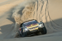 Sebastien Loeb (FRA) of PH Sport races during stage 02 of Rally Dakar 2019 from Pisco to San Juan de Marcona on January 08, 2019 // Marcelo Maragni/Red Bull Content Pool // AP-1Y2K1UDX92111 // Usage for editorial use only // Please go to www.redbullcontentpool.com for further information. //