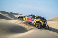 Sebastien Loeb (FRA) and Daniel Elena (MCO) of PH Sport race during stage 2 of Rally Dakar 2019 from Pisco to San Juan de Marcona, Peru on January 8, 2019 // Flavien Duhamel/Red Bull Content Pool // AP-1Y2P3HJJW2112 // Usage for editorial use only // Please go to www.redbullcontentpool.com for further information. //