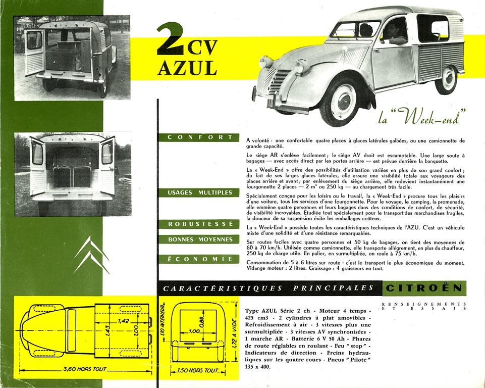 Brochure-2CV-AZU-Lusso-Weekden-1959