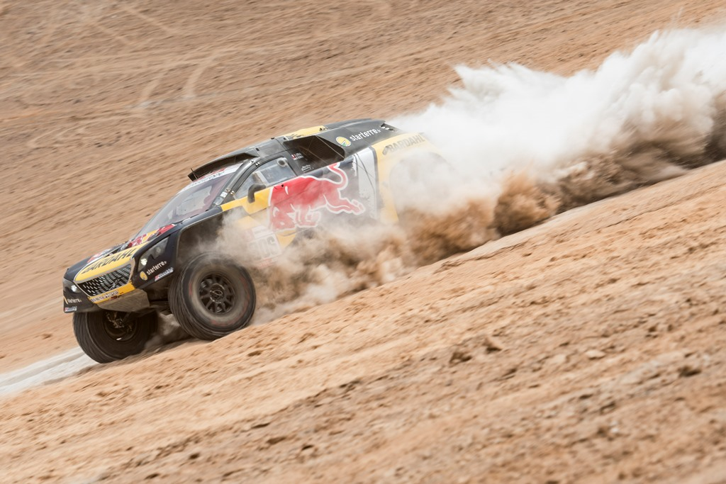 Sebastien Loeb (FRA) of PH Sport races during stage 04 of Rally Dakar 2019 from Arequipa to o Tacna, Peru on January 10, 2019