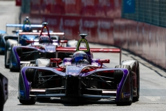 2017/2018 FIA Formula E Championship Round 4 - Santiago ePrix Santiago, Chile Saturday 03 February 2018 Sam Bird (GBR), DS Virgin Racing, DS Virgin DSV-03 leads Alex Lynn (GBR), DS Virgin Racing, DS Virgin DSV-03. Photo: Zak Mauger/LAT/Formula E ref: Digital Image _54I1878