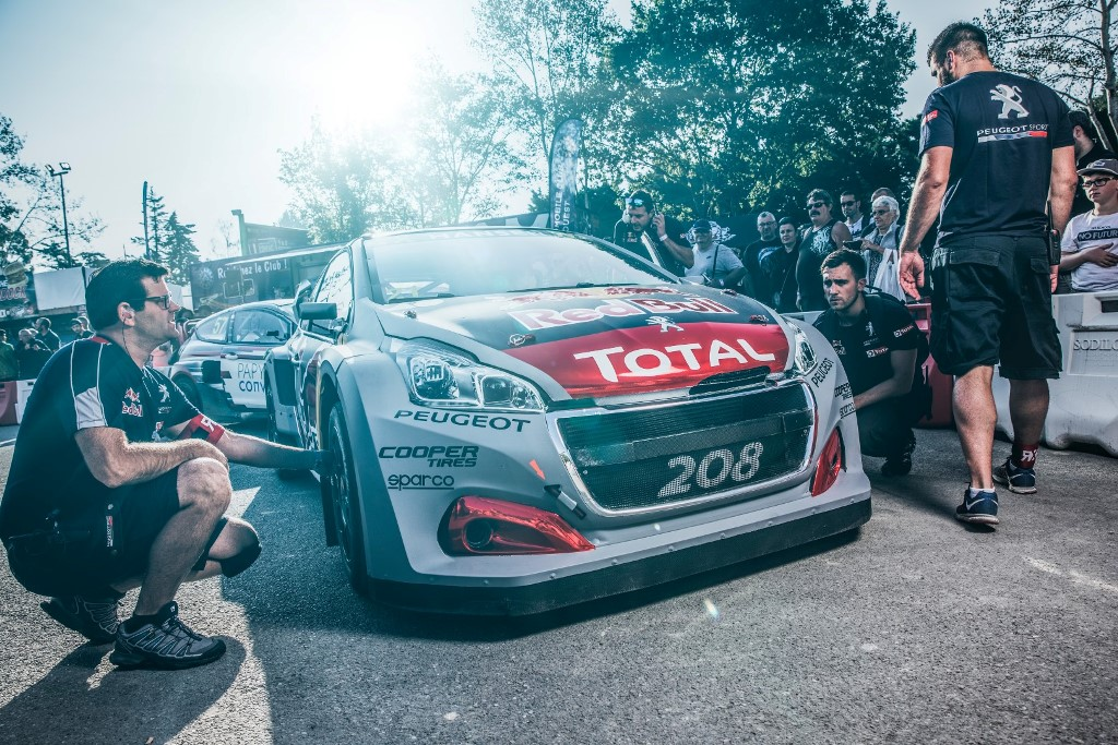 The Peugeot 208 WRX is seen at the FIA World RallyCross Championship in Loheac, France on September 1, 2018 // Flavien Duhamel/Red Bull Content Pool // AP-1WS1A79WW2111 // Usage for editorial use only // Please go to www.redbullcontentpool.com for further information. //