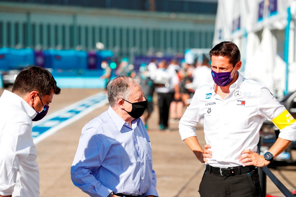 Ian James, Team Principal, Mercedes-Benz EQ  and Jean Todt, FIA President