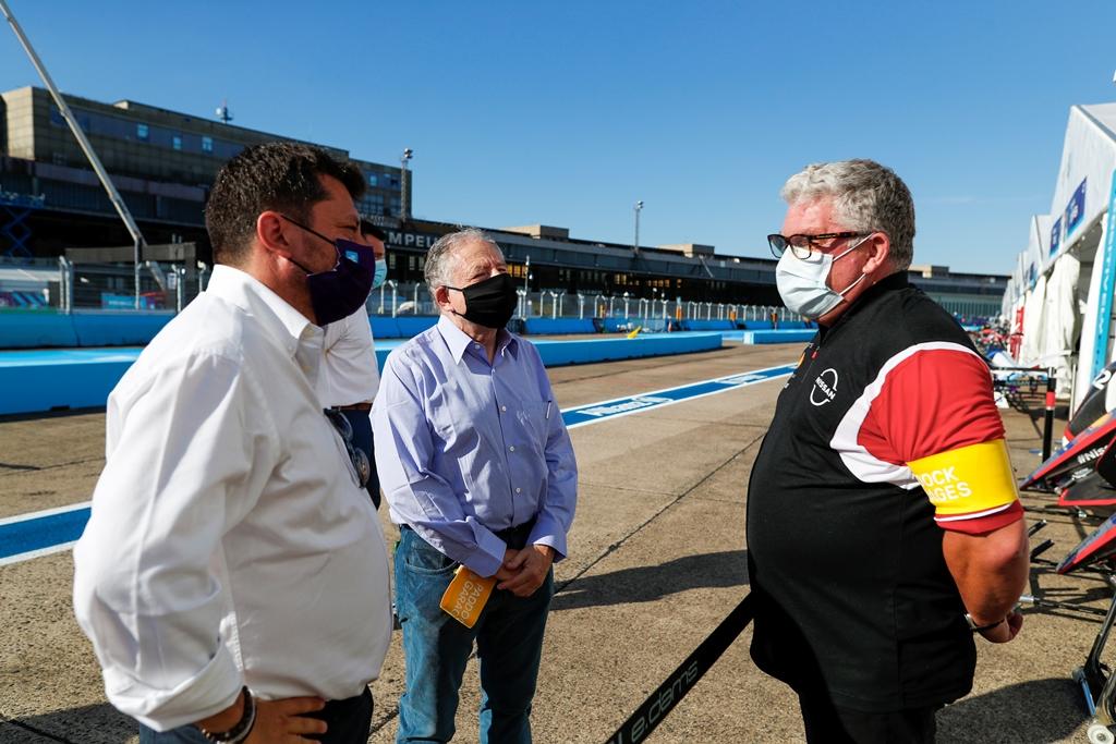 Jean Todt, FIA President with Nissan e.Dams team member