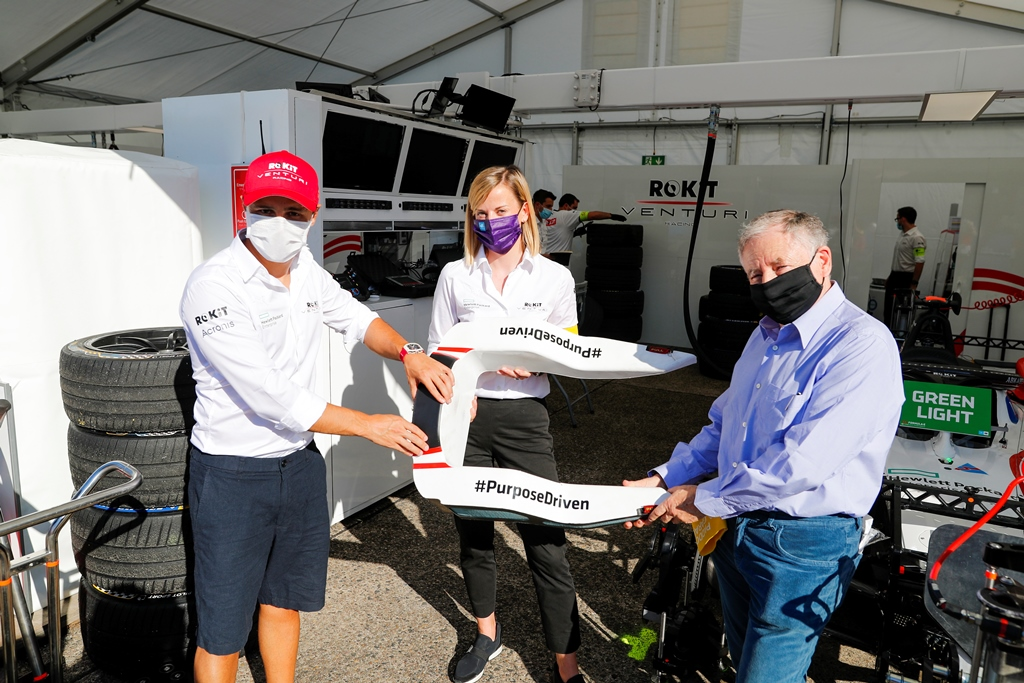Felipe Massa (BRA), Venturi with Susie Wolff, Team Principal, Venturi and Jean Todt, FIA President