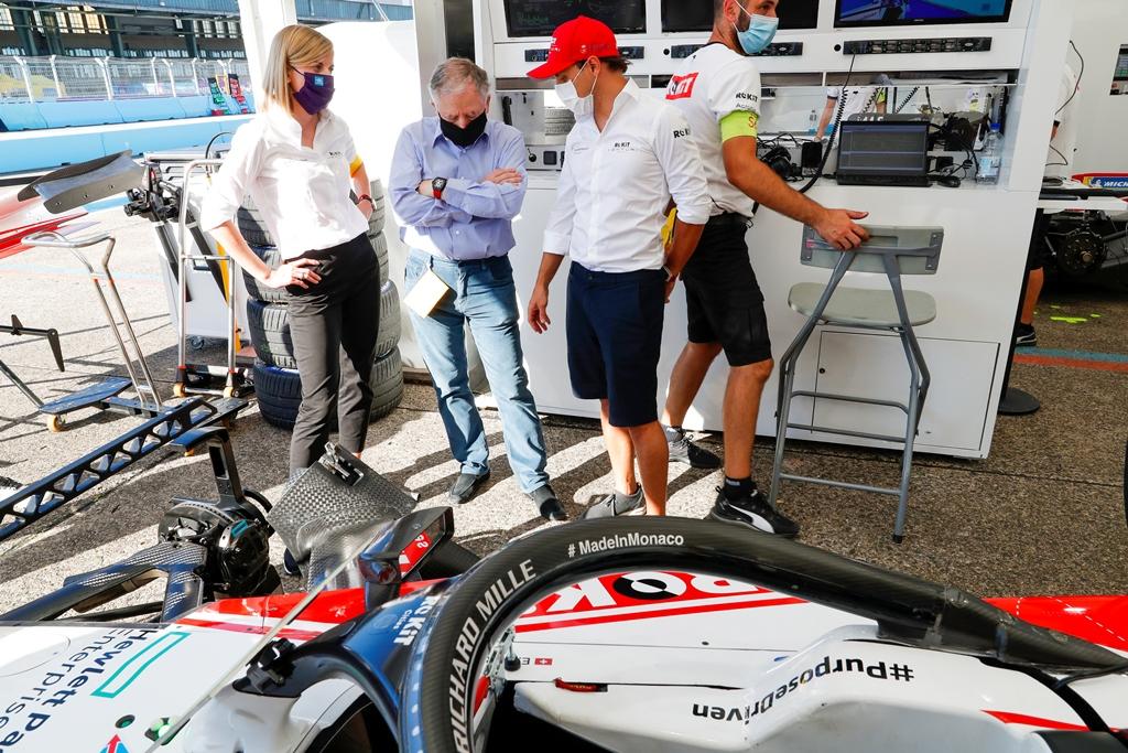 Felipe Massa (BRA), Venturi and Edoardo Mortara (CHE) Venturi with Jean Todt, FIA President and Susie Wolff, Team Principal, Venturi