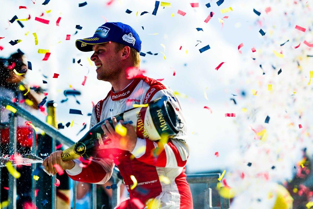 | Driver: Felix Rosenqvist| Team: Mahindra Racing| Number: 19| Car: M3 Electro|| Photographer: Nat Twiss| Event: Berlin ePrix| Circuit: Tempelhof| Location: Berlin| Series: FIA Formula E| Season: 2016-2017| Country: DE|| Session: Race|