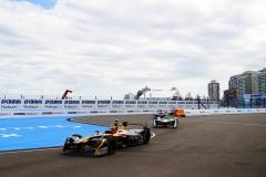 Jean-Eric Vergne (FRA), TECHEETAH, Renault Z.E. 17, leads Lucas Di Grassi (BRA), Audi Sport ABT Schaeffler, Audi e-tron FE04.