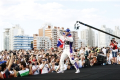 Sam Bird (GBR), DS Virgin Racing, DS Virgin DSV-03, celebrates on the podium.
