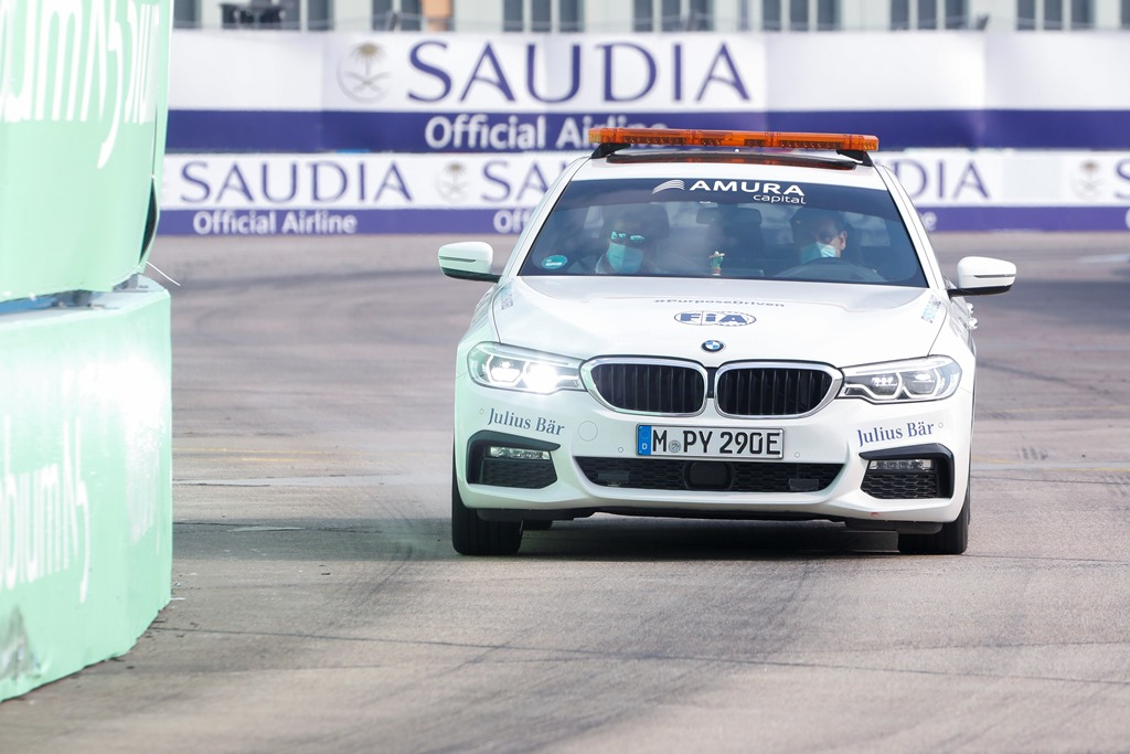 A BMW course car