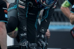 Mitch Evans (NZL), Panasonic Jaguar Racing climbs out of his car on the grid