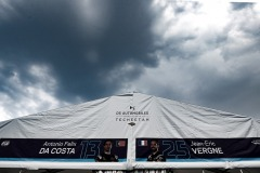 Clouds over garage of Jean-Eric Vergne (FRA), DS Techeetah, DS E-Tense FE20 anDrivers Antonio Félix da Costa (PRT), DS Techeetah, DS E-Tense FE20