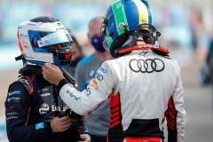 Sam Bird (GBR), Envision Virgin Racing chats with Lucas Di Grassi (BRA), Audi Sport ABT Schaeffler