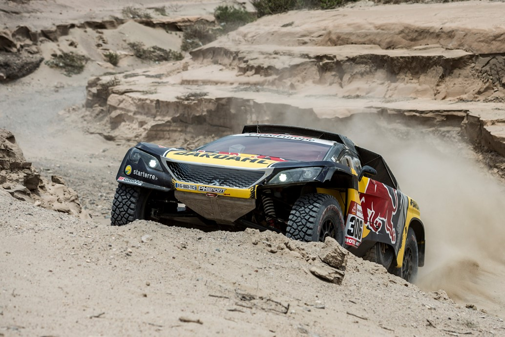 Sebastien Loeb (FRA) of PH Sport races during stage 03 of Rally Dakar 2019 from San Juan de Marcona to Arequipa, Peru on January 09, 2019 // Marcelo Maragni/Red Bull Content Pool // AP-1Y2YGY2951W11 // Usage for editorial use only // Please go to www.redbullcontentpool.com for further information. //
