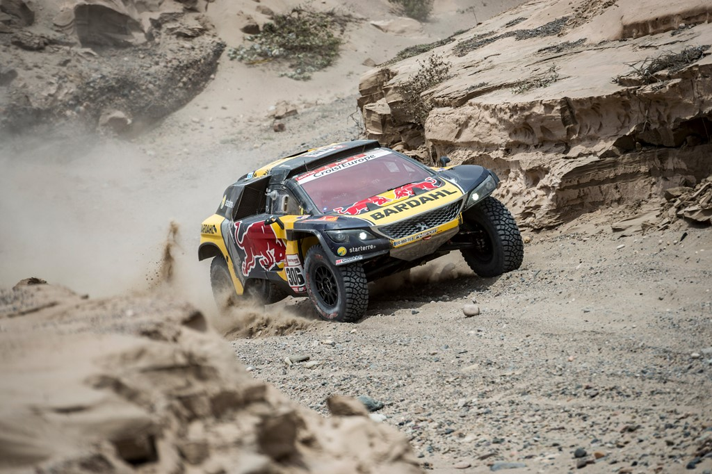 Sebastien Loeb (FRA) of PH Sport races during stage 03 of Rally Dakar 2019 from San Juan de Marcona to Arequipa, Peru on January 09, 2019 // Marcelo Maragni/Red Bull Content Pool // AP-1Y2YGZ2WN1W11 // Usage for editorial use only // Please go to www.redbullcontentpool.com for further information. //