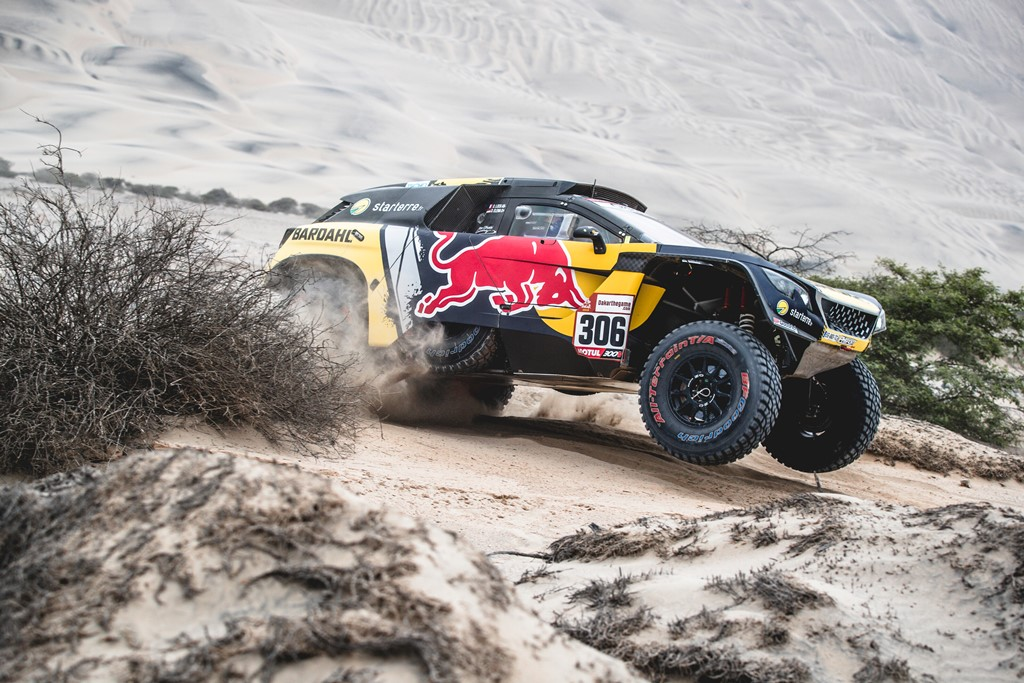 Sebastien Loeb (FRA) of PH Sport races during stage 3 of Rally Dakar 2019 from San Juan de Marcona to Arequipa, Peru on January 9, 2019. // Flavien Duhamel/Red Bull Content Pool // AP-1Y2Z6Q9KW2111 // Usage for editorial use only // Please go to www.redbullcontentpool.com for further information. //
