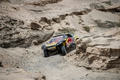 Sebastien Loeb (FRA) of PH Sport races during stage 03 of Rally Dakar 2019 from San Juan de Marcona to Arequipa, Peru on January 09, 2019 // Marcelo Maragni/Red Bull Content Pool // AP-1Y2YGYTS51W11 // Usage for editorial use only // Please go to www.redbullcontentpool.com for further information. //