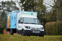 Milk & More Float March 2018, milk float, milk delivery, electric float, electric vehicle