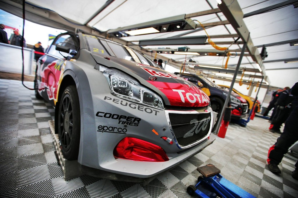 Timmy Hansen performs at FIA World Rallycross Championship in Mettet, Belgium on 13 May 2018 // @World / Red Bull Content Pool // AP-1VN2G9S4W2111 // Usage for editorial use only // Please go to www.redbullcontentpool.com for further information. //
