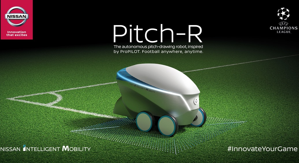 Nissan scores with Pitch-R robot at 2018 UEFA Champion's League Final Kyiv 2018