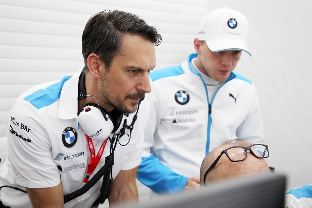 Valencia (ESP), 18th October 2019. ABB FIA Formula E Championship Season 6, Testing, BMW i Andretti Motorsport, Valentino Conti (GER) Chef engineer..