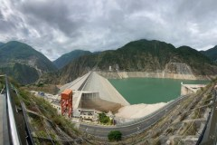 Hydropower station dam in Chengdu