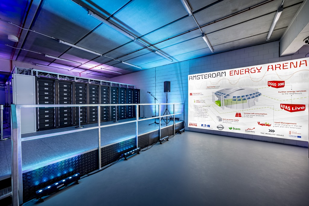 Europe's largest energy storage system is now live at the the Johan Cruijff Arena