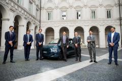 Presentazione della nuova Fiat 500 elettrica al Presidente del C