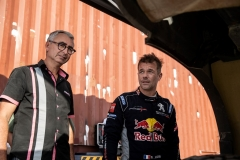 Sebastien Loeb was seen with Bernard Piallat during a test run with the new Peugeot 3008 DKR on December 11th, 2018 // Naim Chidiac/Red Bull Content Pool // AP-1XZP115X92111 // Usage for editorial use only // Please go to www.redbullcontentpool.com for further information. //