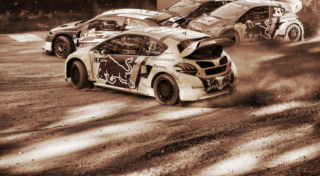 Kevin Hansen in action at FIA World Rallycross Championship in Entering, Germany on 14th October 2018 // @World / Red Bull Content Pool // AP-1X762G4MH2111 // Usage for editorial use only // Please go to www.redbullcontentpool.com for further information. //
