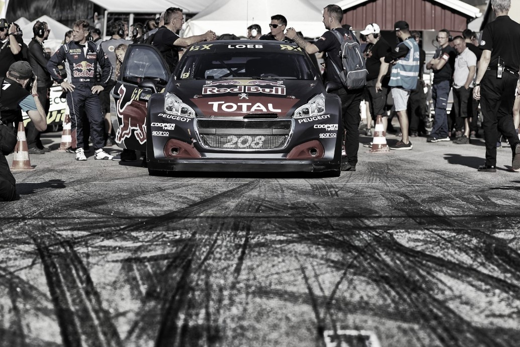 Sebastien Loeb performs at FIA World Rallycross Championship in Entering, Germany on 14th October 2018 // @World / Red Bull Content Pool // AP-1X6YW3QFD2111 // Usage for editorial use only // Please go to www.redbullcontentpool.com for further information. //