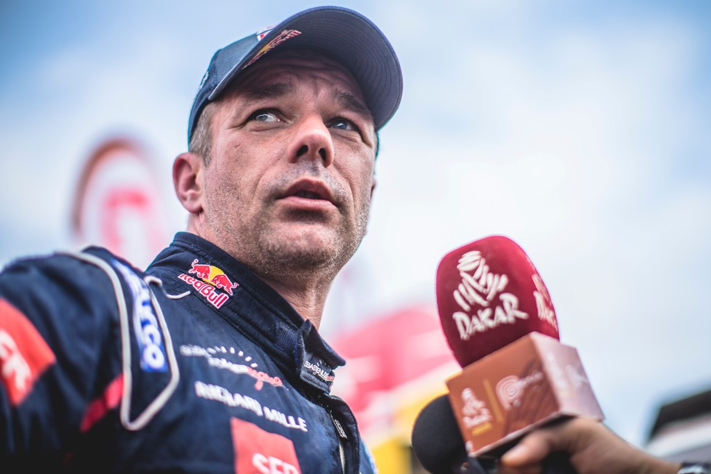 Sebastien Loeb (FRA) of PH Sport seen at the finish line of races during stage 6 of Rally Dakar 2019 from Arequipa to San Juan de Marcona, Peru on January 13, 2019. // Flavien Duhamel/Red Bull Content Pool // AP-1Y4AUNGQH2111 // Usage for editorial use only // Please go to www.redbullcontentpool.com for further information. //