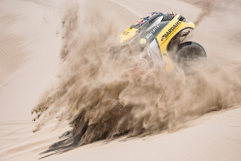 Sebastien Loeb (FRA) of PH Sport races during stage 06 of Rally Dakar 2019 from Arequipa to San Juan de Marcona, Peru on January 13, 2019 // Marcelo Maragni/Red Bull Content Pool // AP-1Y49M9RJD2111 // Usage for editorial use only // Please go to www.redbullcontentpool.com for further information. //