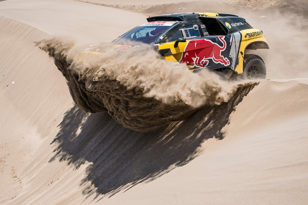 Sebastien Loeb (FRA) of PH Sport races during stage 06 of Rally Dakar 2019 from Arequipa to San Juan de Marcona, Peru on January 13, 2019 // Marcelo Maragni/Red Bull Content Pool // AP-1Y49M558W2111 // Usage for editorial use only // Please go to www.redbullcontentpool.com for further information. //