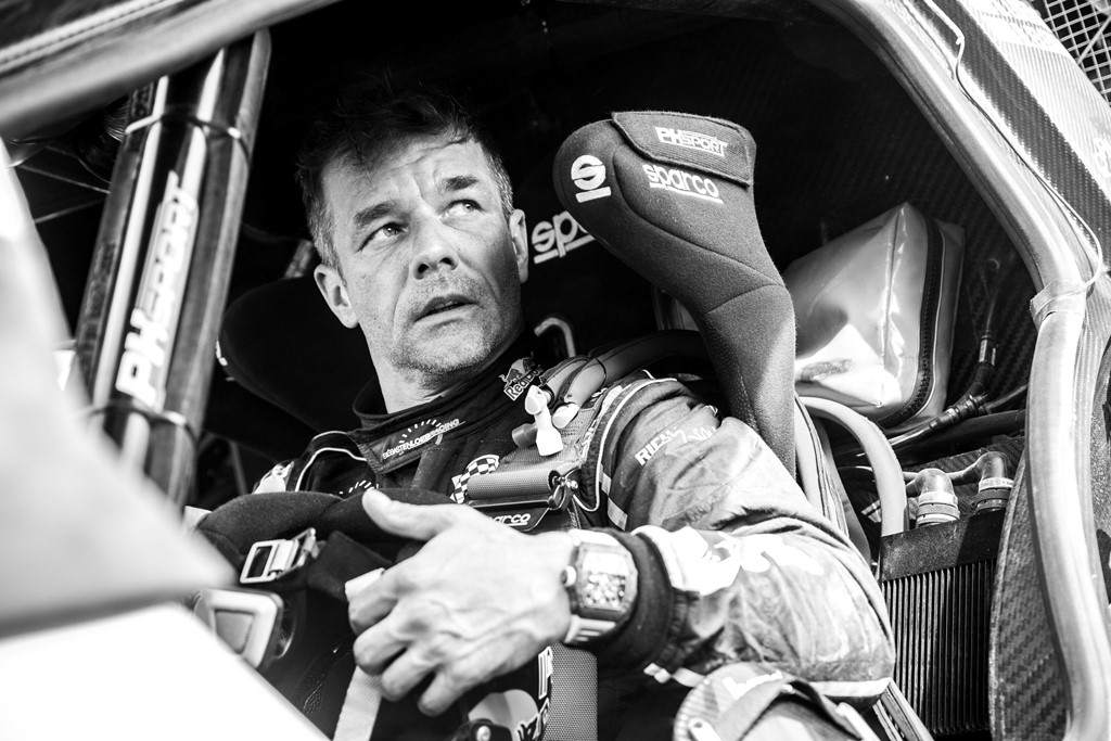 Sebastien Loeb (FRA) of PH Sport seen at the finish line of races during stage 6 of Rally Dakar 2019 from Arequipa to San Juan de Marcona, Peru on January 13, 2019. // Flavien Duhamel/Red Bull Content Pool // AP-1Y4AUMUR52111 // Usage for editorial use only // Please go to www.redbullcontentpool.com for further information. //