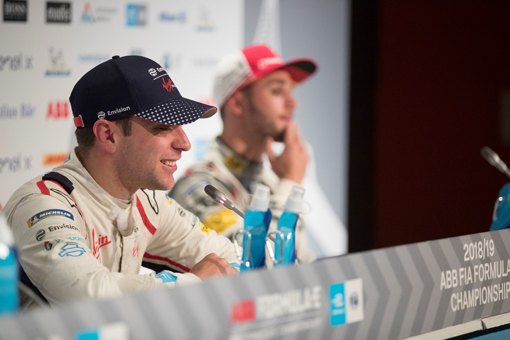 Robin Frijns (NLD), Envision Virgin Racing, in the press conference