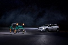 2020 Opel Astra with IntelliLux LED matrix light and Opel Patantmotorwagen System Lutzmann