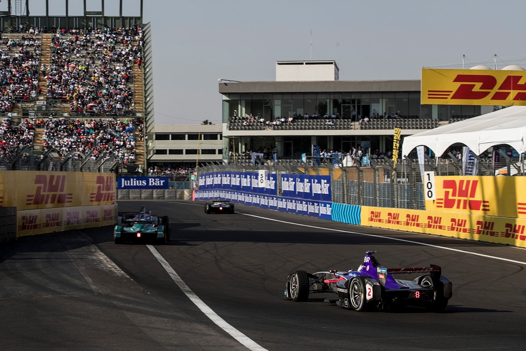 2017/2018 FIA Formula E Championship. Round 5 - Mexico City ePrix. Autodromo Hermanos Rodriguez, Mexico City, Mexico. Saturday 3 March 2018. Sam Bird (GBR), DS Virgin Racing, DS Virgin DSV-03. Photo: Zak Mauger/LAT/Formula E ref: Digital Image _56I1661