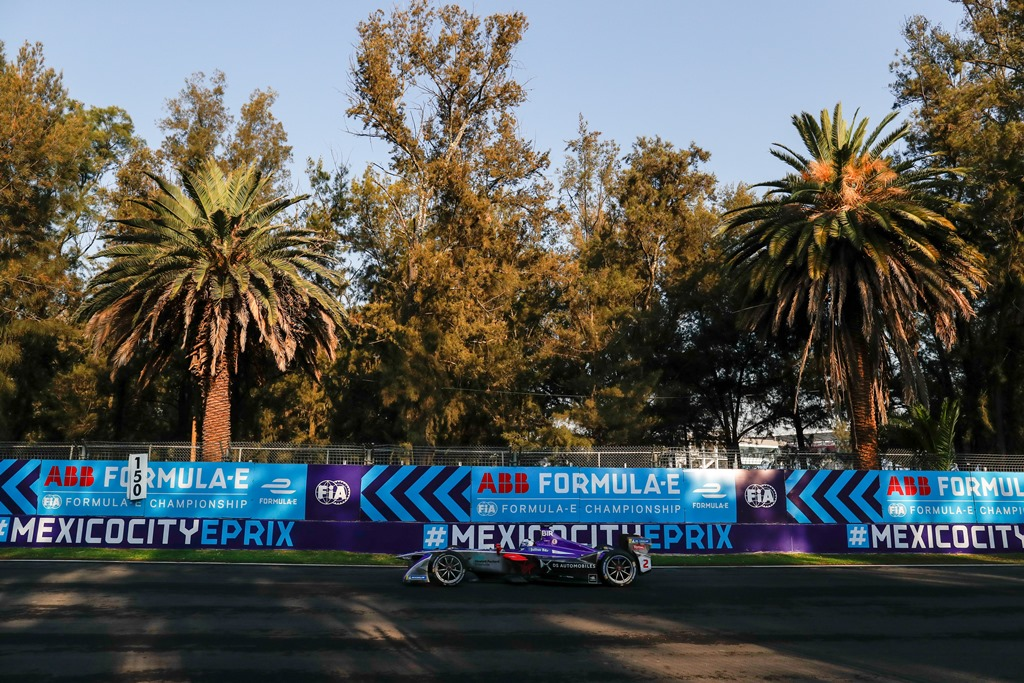 2017/2018 FIA Formula E Championship. Round 5 - Mexico City ePrix. Autodromo Hermanos Rodriguez, Mexico City, Mexico. Saturday 03 March 2018. Sam Bird (GBR), DS Virgin Racing, DS Virgin DSV-03.  Photo: Alastair Staley/LAT/Formula E ref: Digital Image _MGL3343