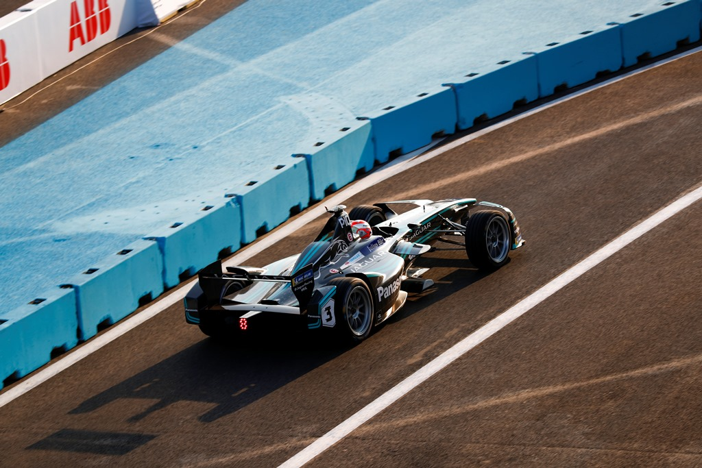 2017/2018 FIA Formula E Championship. Round 5 - Mexico City ePrix. Autodromo Hermanos Rodriguez, Mexico City, Mexico. Saturday 03 March 2018. Nelson Piquet Jr. (BRA), Panasonic Jaguar Racing, Jaguar I-Type II.  Photo: Sam Bloxham/LAT/Formula E ref: Digital Image _W6I1527
