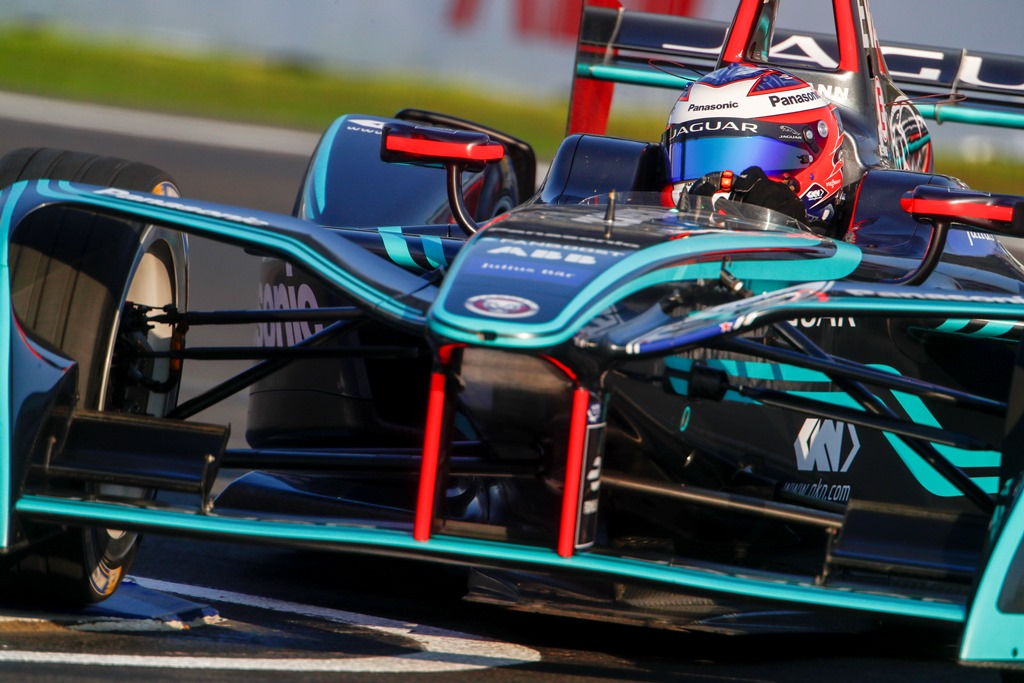 2017/2018 FIA Formula E Championship. Round 5 - Mexico City ePrix. Autodromo Hermanos Rodriguez, Mexico City, Mexico. Saturday 03 March 2018. Mitch Evans (NZL), Panasonic Jaguar Racing, Jaguar I-Type II.  Photo: Andrew Ferraro/LAT/Formula E ref: Digital Image _J6I0865