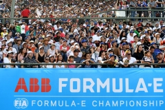 2017/2018 FIA Formula E Championship. Round 5 - Mexico City ePrix. Autodromo Hermanos Rodriguez, Mexico City, Mexico. Saturday 3 March 2018. ABB logo on the grandstand. Photo: Sam Bagnall/LAT/Formula E ref: Digital Image SB1_8008