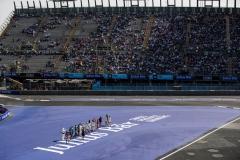 2017/2018 FIA Formula E Championship. Round 5 - Mexico City ePrix. Autodromo Hermanos Rodriguez, Mexico City, Mexico. Saturday 3 March 2018. Drivers wave to the fans. Photo: Zak Mauger/LAT/Formula E ref: Digital Image _56I1309