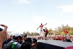 2017/2018 FIA Formula E Championship. Round 5 - Mexico City ePrix. Autodromo Hermanos Rodriguez, Mexico City, Mexico. Saturday 03 March 2018. Daniel Abt (GER), Audi Sport ABT Schaeffler, Audi e-tron FE04, celebrates after winning the race. Photo: Sam Bloxham/LAT/Formula E ref: Digital Image _W6I3593