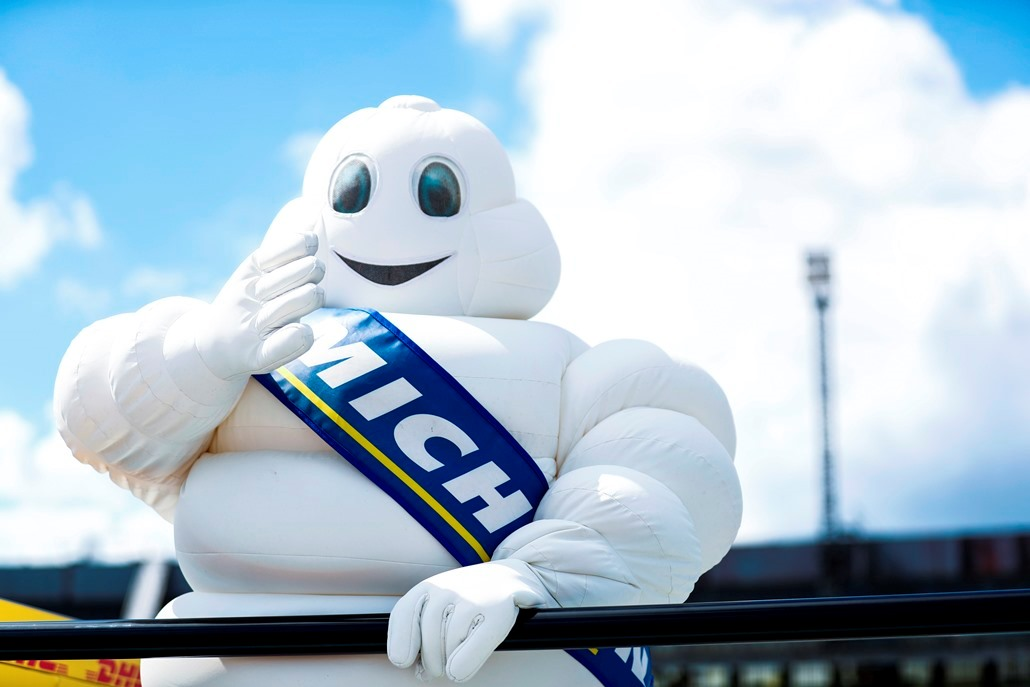 2016/2017 FIA Formula E Championship. Round 7 - Berlin ePrix, Tempelhof Airport, Berlin, Germany. Saturday 10 June 2017. The Michelin Man. Photo: Sam Bloxham/LAT/Formula E ref: Digital Image _W6I8835