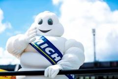 2016/2017 FIA Formula E Championship. Round 7 - Berlin ePrix, Tempelhof Airport, Berlin, Germany. Saturday 10 June 2017. The Michelin Man. Photo: Sam Bloxham/LAT/Formula E ref: Digital Image _W6I8835