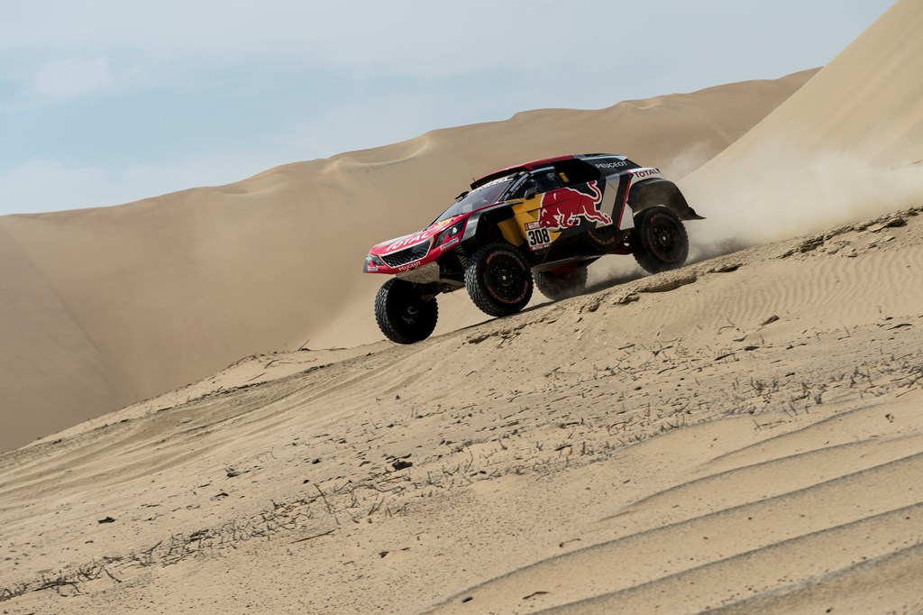 Cyril Despres (FRA) of Team Peugeot Total races during stage 01 of Rally Dakar 2018 from Lima to Pisco, Peru on January 06, 2018