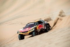 Stephane Peterhansel (FRA) of Team Peugeot Total races during stage 01 of Rally Dakar 2018 from Lima to Pisco, Peru on January 06, 2018